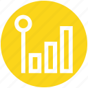 chart, earning, graph, network, technology icon