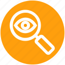 exploration, eye, find, magnifier, search, view, zoom icon