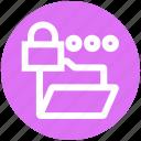 document, folder, lock, locked, private, security, storage icon