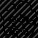 adjustment, cloud, data, setup, uploading icon