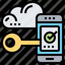 access, cloud, key, lock, verify