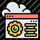 cloud, control, interface, panel, setting
