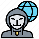 criminal, cybercrime, hacker, network, phishing icon