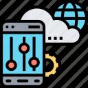 panel, setting, cloud, option, control