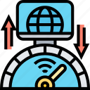 performance, test, internet, upload, speed icon