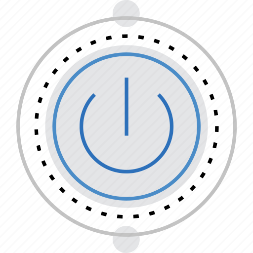 button, off, on, power, switch, turn, uninterrupted icon