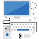 computer, desktop, monitor, office, pc, work, workstation icon