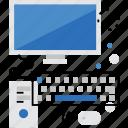 computer, desktop, monitor, office, pc, work, workstation