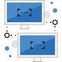 communication, computer, connection, lan, local, network, sync icon