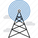 antenna, broadcast, communication, connection, tower, transmission, wireless icon