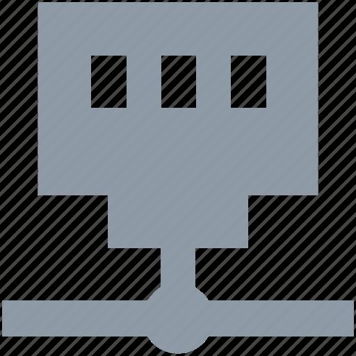database, hosting, network server, server connection, server storage icon