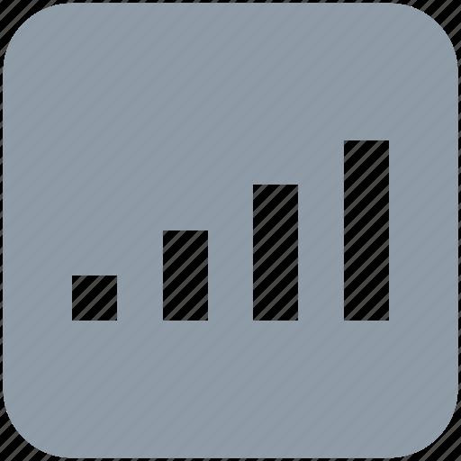 internet, signal bars, signal strength, signals, wireless icon