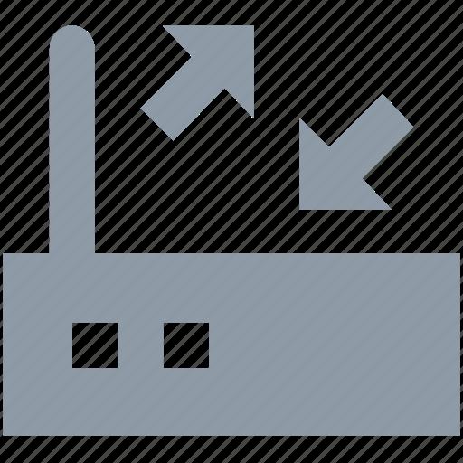 dsl, internet, internet device, modem, router icon