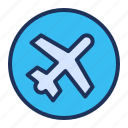 aircraft, airplane, mode, network icon