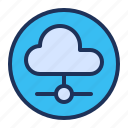 cloud, network, server, sharing icon