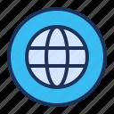 globe, internet, network, wireframe