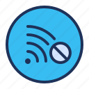 connection, network, no, wifi icon