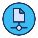 document, file, network, sharing icon