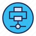 connection, network, printer, sharing icon