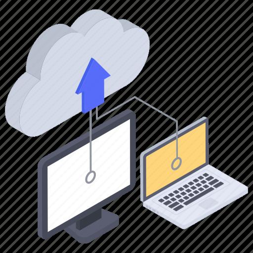 cloud computing, cloud data, cloud data transfer, cloud storage, cloud technology, cloud uploading, data uploading icon