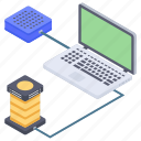 data computing, data hosting, data storage, data technology, network server icon