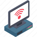 broadband network, internet connection, wireless connection, wireless network, wireless technology icon