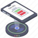 inductive charging, mobile battery, recharge battery, wireless charger, wireless charging icon