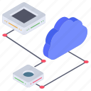 cloud computing, cloud hosting, cloud networking, cloud storage, cloud technology icon