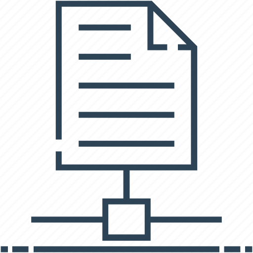 document, hosting, networking, paper, server paper icon
