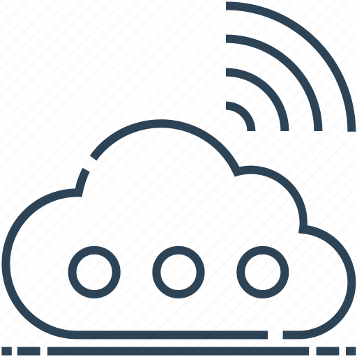 cloud, internet, networking, signals icon