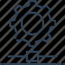 cogwheel, gear, hosting, networking, server setup
