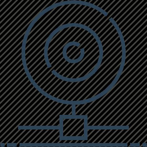 camera, hosting, lens, networking, server icon