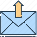 arrow, email, envelope, letter, mail, send