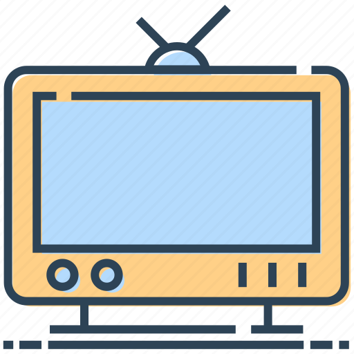 antenna, screen, television, tv, watching icon