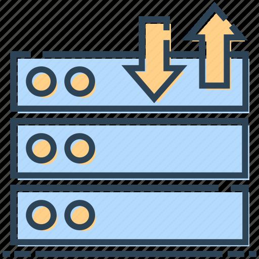 database, internet, networking, server, sharing icon