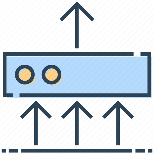 arrows, data, networking, server, sharing icon