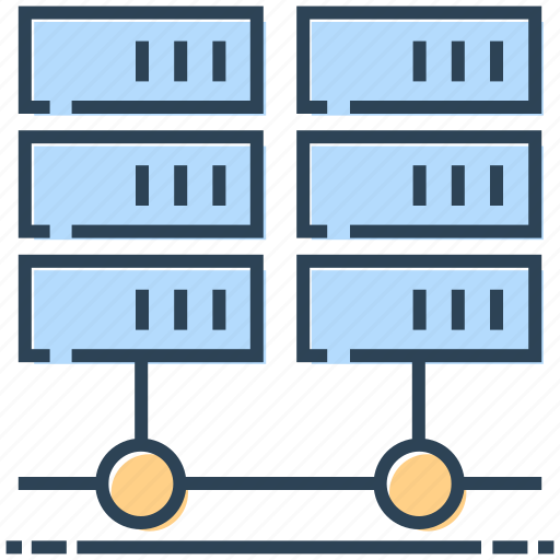 database, hosting, mainframe, networking, server icon