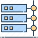 database, hosting, mainframe, networking, server icon