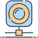 camera, hosting, networking, server camera, web icon