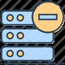 database, hosting, mainframe, minus, networking, server icon