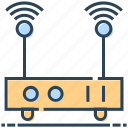 modem, networking, router, signals, wifi icon
