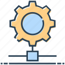 cogwheel, gear, hosting, networking, server setup icon