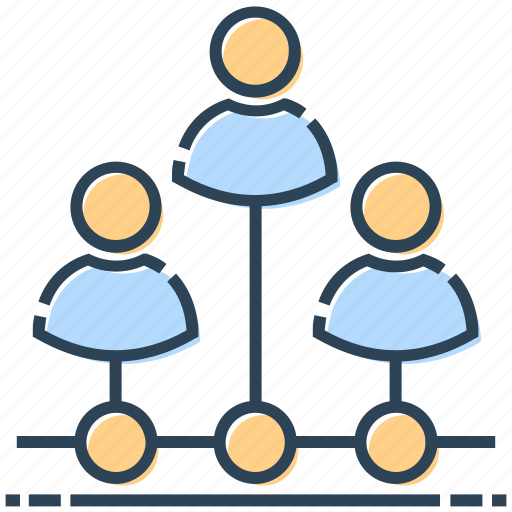 connection, hosting, networking, team, users icon