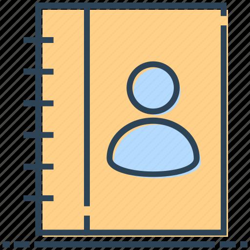 address, book, contact, person icon