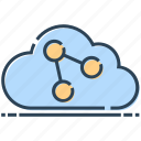 cloud, link, networking, technology, url icon