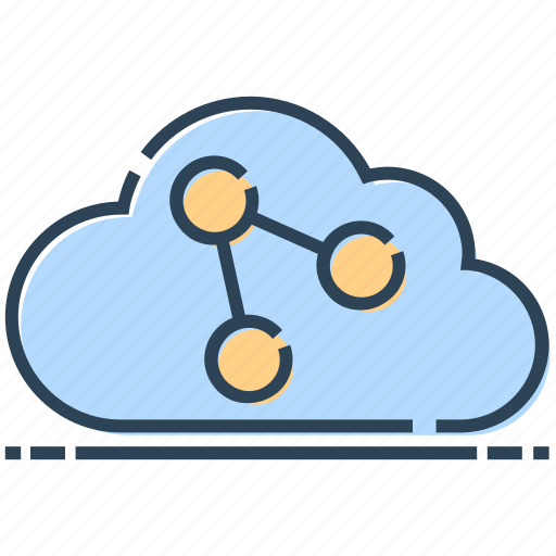 Cloud, link, networking, technology, url icon - Download on Iconfinder