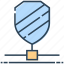 hosting, networking, protection, security, shield icon