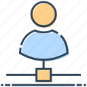 businessman, hosting, networking, people, user icon