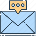 chat, email, envelope, letter, mail, message