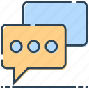 bubble, chatting, message, sms, talk icon